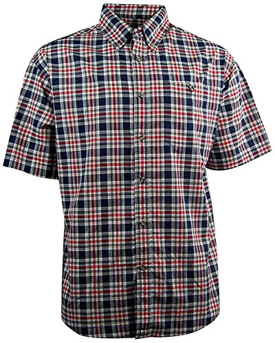 Canyon Guide Men's Plaid Short Sleeve Button Down Casual Shirt