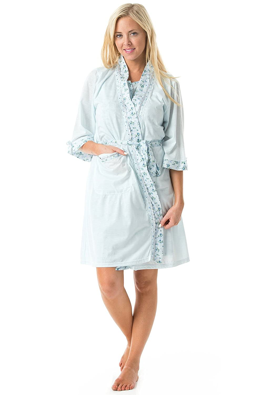 ff79986e749c Casual Nights Women s Sleepwear 2 Piece Nightgown and Robe Set at Amazon  Women s Clothing store