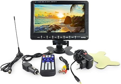 Lychee Ultrafino 9 Pulgadas de Ancho TFT LCD Pantalla de TV reposacabezas de Coche Monitor de vídeo Digital con USB/SD 16: 9 Pantalla TFT a Color ATV/Tarjeta: Amazon.es: Electrónica