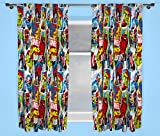 Marvel Character world 72-Inch Disney Comics Justice Curtains, Multi-Colour