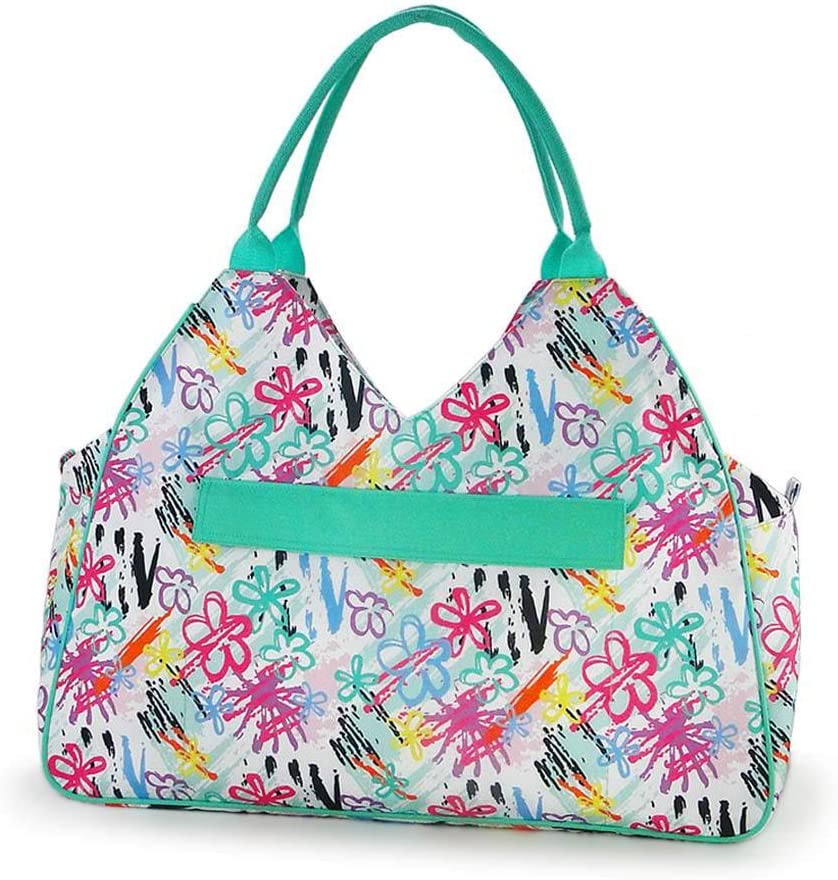 Beach bags and Totes for Women with Zipper Closure and Waterproof for Weekend Vacation Travel PAINTED FLORAL