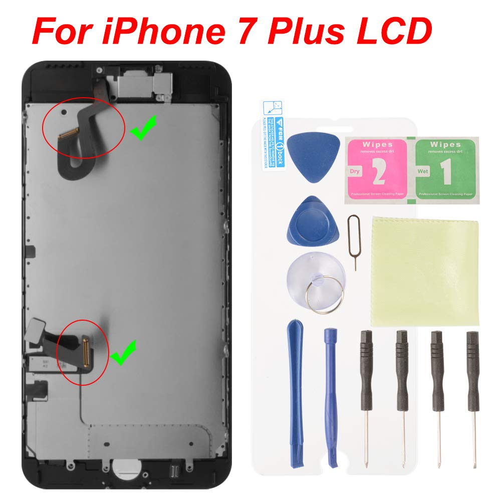 XCSOURCE for iPhone 7 Plus LCD Touch Screen Digitizer Assembly Replacement Black TE1107 by XCSOURCE