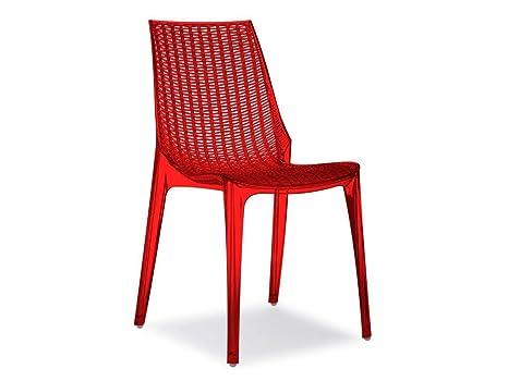 Sedie Di Plastica Trasparenti : Scab tricot chair sedia in plastica policarbonato colore