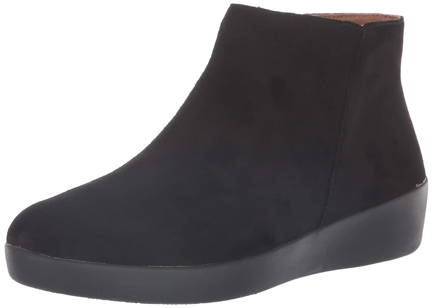 92b6da73f8f7d0 FitFlop Women s Sumi Suede SupercomFF Ankle Bootie Boot Black Size 8   Amazon.co.uk  Shoes   Bags