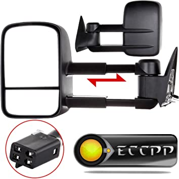 For 88-00 Chevy//GMC C//K 1500//2500//3500 Pickup Power Tow Mirrors Extenable Arm