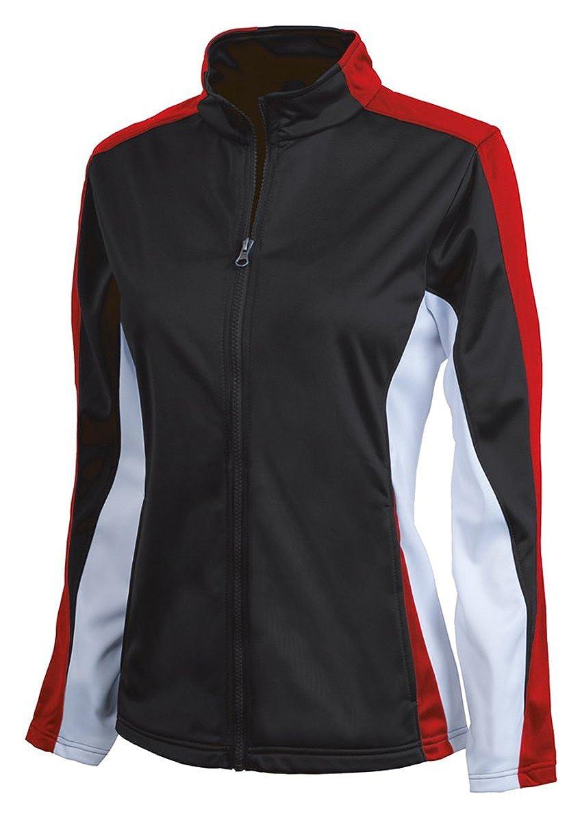 Medium Black//Red//White Charles River Apparel Girls Dry Sporty Energy Jacket