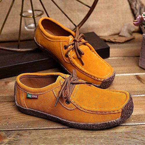 Deportivo Deporte Zapatillas Asfalto Correr Casuales Amarillo Mujer Calzado Deportivos Zapatos Bobolover Auriculares En Running 47d1q54w