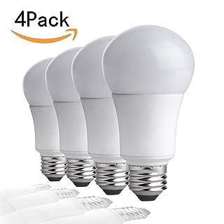 CTKcom A19 LED Light Bulbs 5W(4 Pack)- 40 Watt Equivalent 6500K Daylight Cool White LED Light Bulbs E26/E27 Base,270 Degree Beam Angle for Home Dining Room Bedroom Living Room,UL Listed,Pack of 4