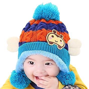 91d4f059455 Hosaire 1pc Bébé Chapeaux Chapeau Hiver Bébé Bonnet Bébé en Laine Bonnet  Hiver pour Bébé Chapeaux