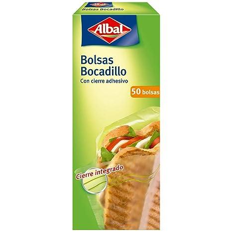 Albal Bolsa para Bocadillos Cierre Adhesivo, Tamaño Pequeño ...