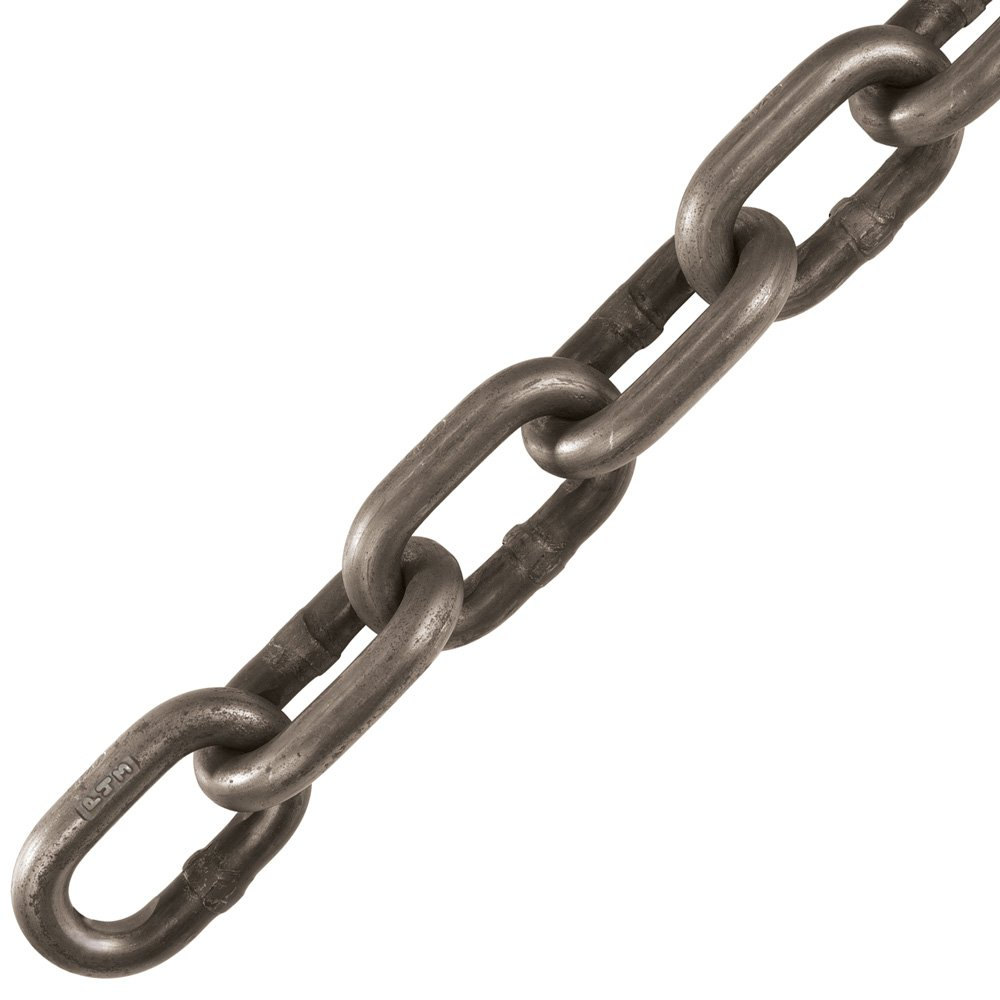 1'' x 60' Peerless Grade 30, Self Colored, Proof Coil Chain, USA