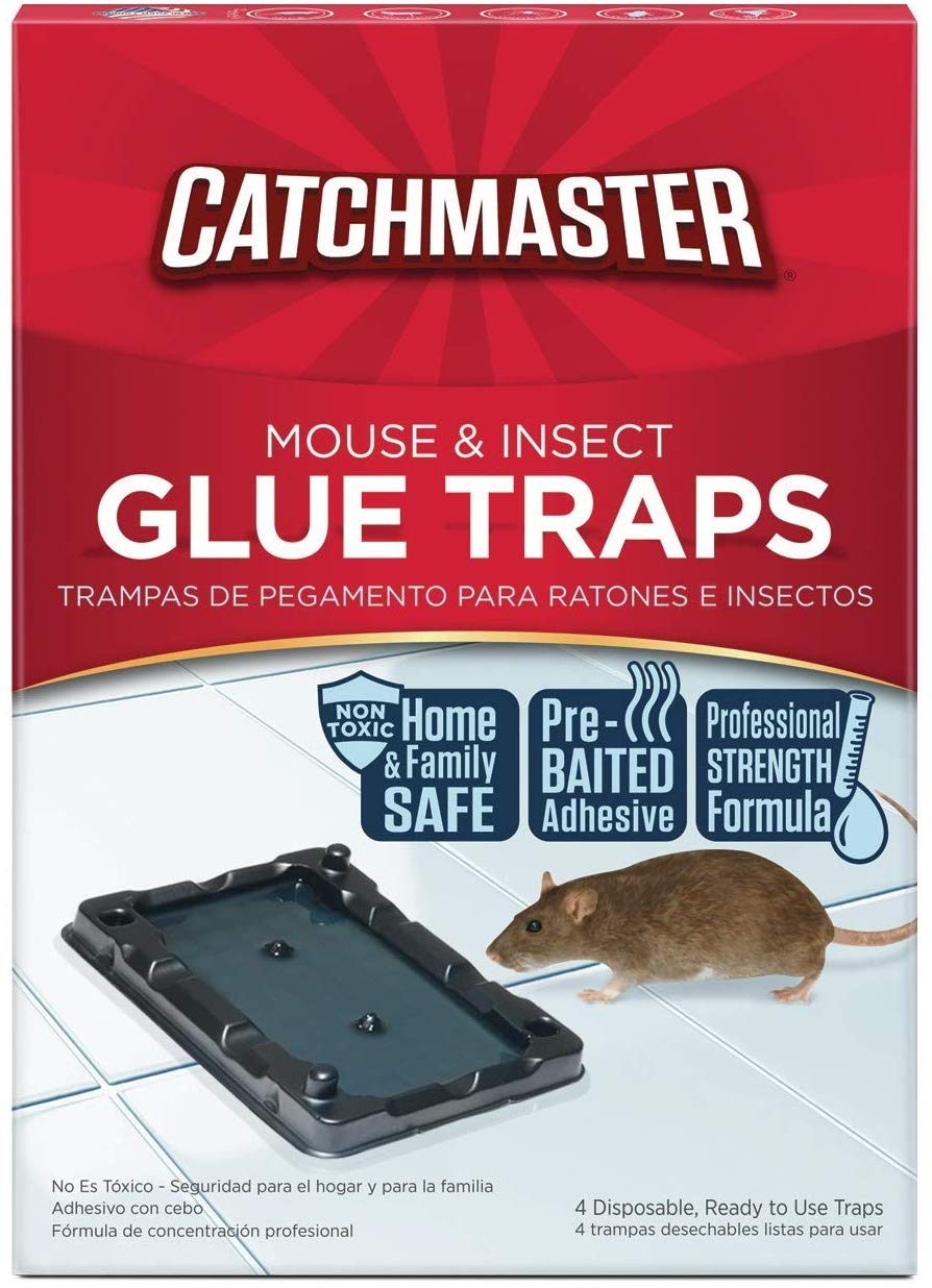 Catchmaster Mouse & Insect Professional Strength Glue Traps - Non Toxic - 6 Glue Trays 61AGUb2lEIL