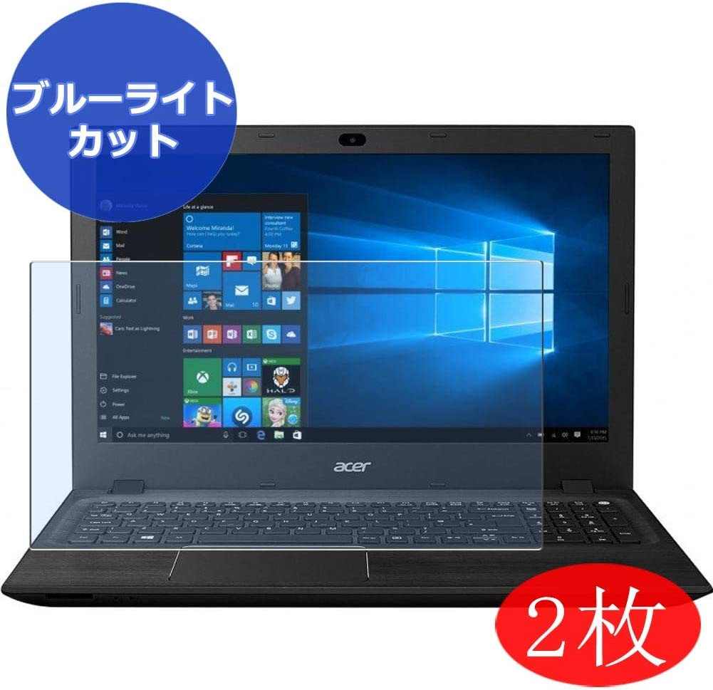 """【2 Pack】 Synvy Anti Blue Light Screen Protector for Acer Aspire F5-572 / F5-572G 15.6"""" Screen Film Protective Protectors [Not Tempered Glass]"""