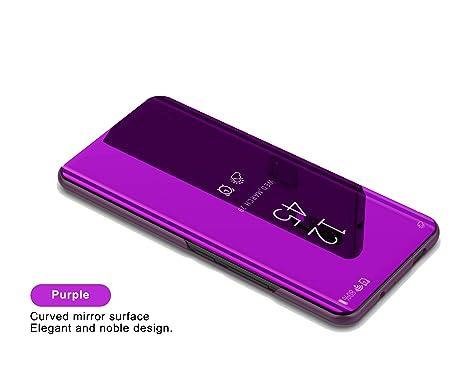 Samsung Galaxy J6 2018 Funda Espejo Flip Case,Vista Inteligente Cover para Samsung Galaxy J6