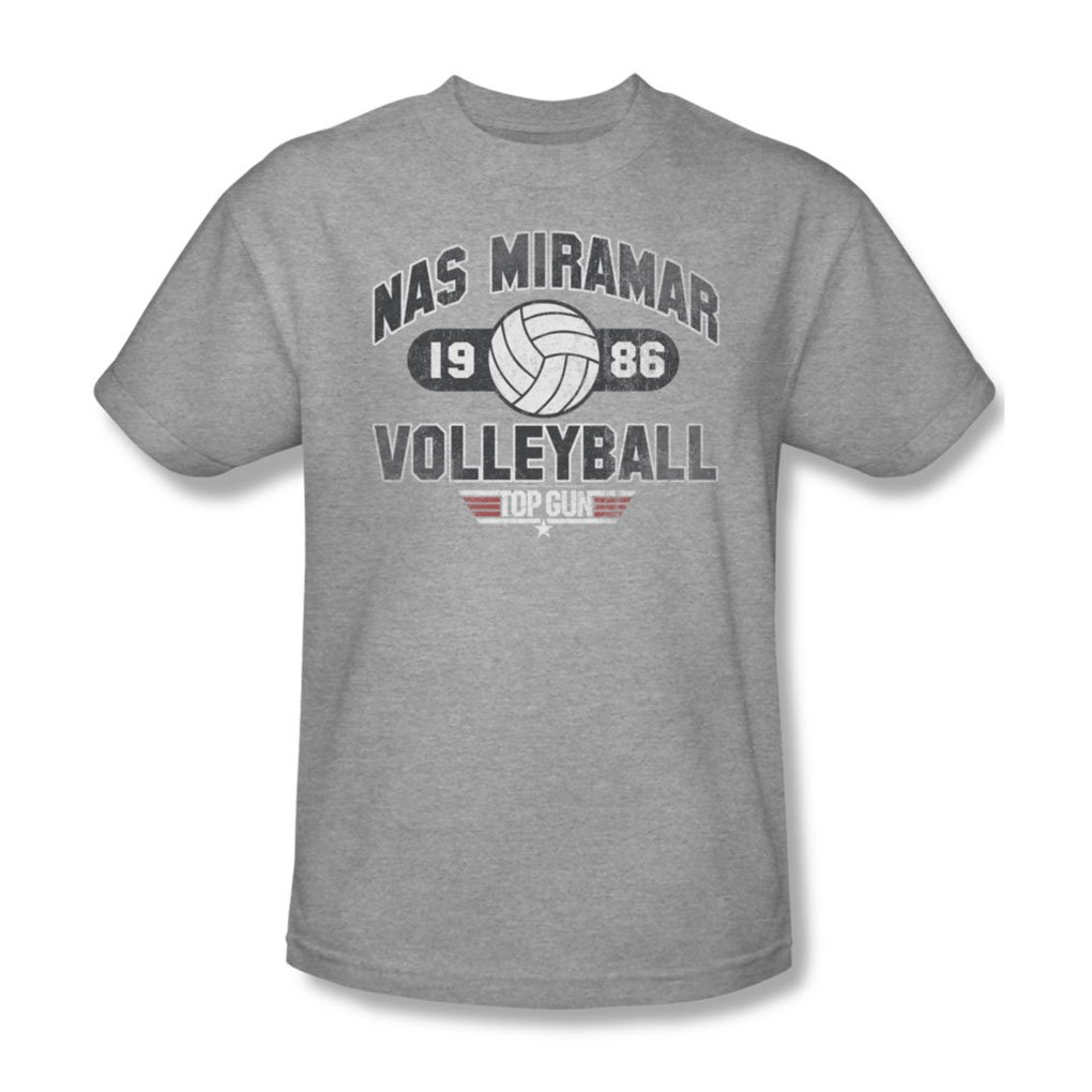 Amazon Top Gun Mens Nas Miramar Volleyball T Shirt In Heather