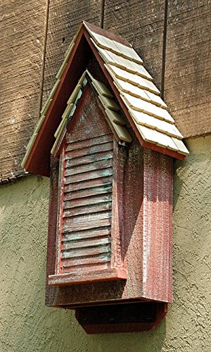Heartwood Victorian Bat House, Red, 100 bats