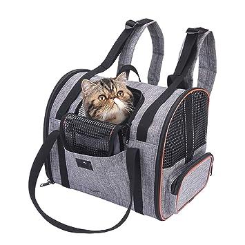 WLDOCA Mochila de Transporte para el pequeño Perro del Gato, Bolso Plegable Lavable Plegable para el avión de Viaje Tren Tren Avión homologado: Amazon.es: ...