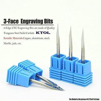 10pcs PCB CNC Engraving Bits CNC  Tool Bits for metal 15degree 0.1mm milling cut
