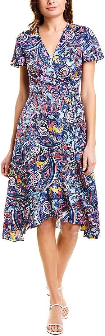 Laundry by Shelli Segal Women's Satin Wrap Dress