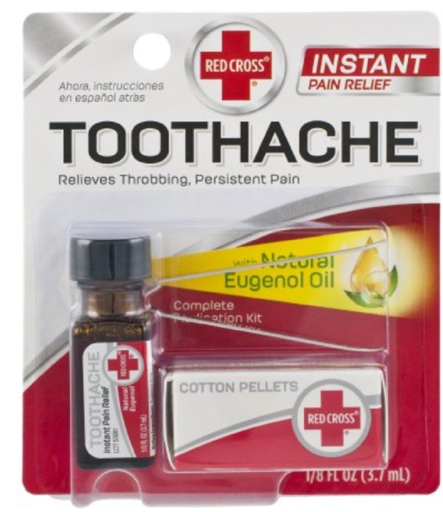Red Cross Toothache Medication Kit 0.12 oz (Pack of 10)