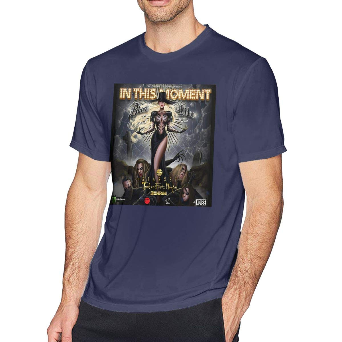 Amazon.com: Breathable Mens in This Moment Black Widow Tops ...