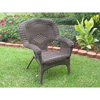 International Caravan Patio Furniture.International Caravan 3180 2ch Ap Ic Furniture Piece Camelback Resin Wicker Patio Chairs Set Of 2