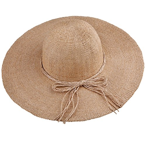 (Samtree Women's Foldable Beach Cap,Wide Brim Roll Up Straw Sun Hat for Small Head Size)