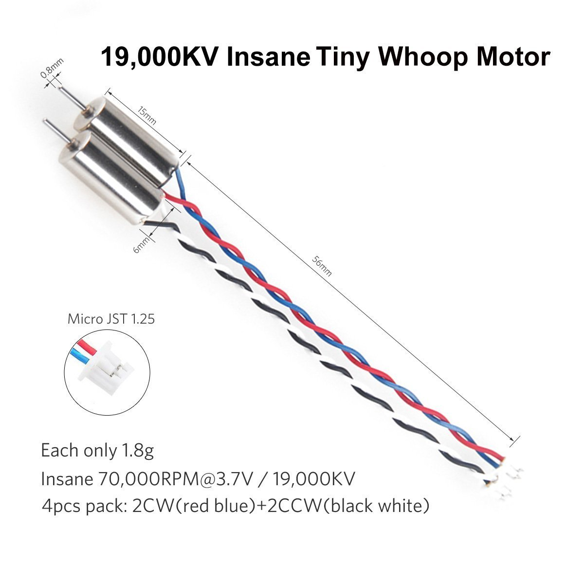 4pcs 6x15mm Motor 19000kv For Blade Inductrix 350 Qx Battery Wiring Diagram Electronics