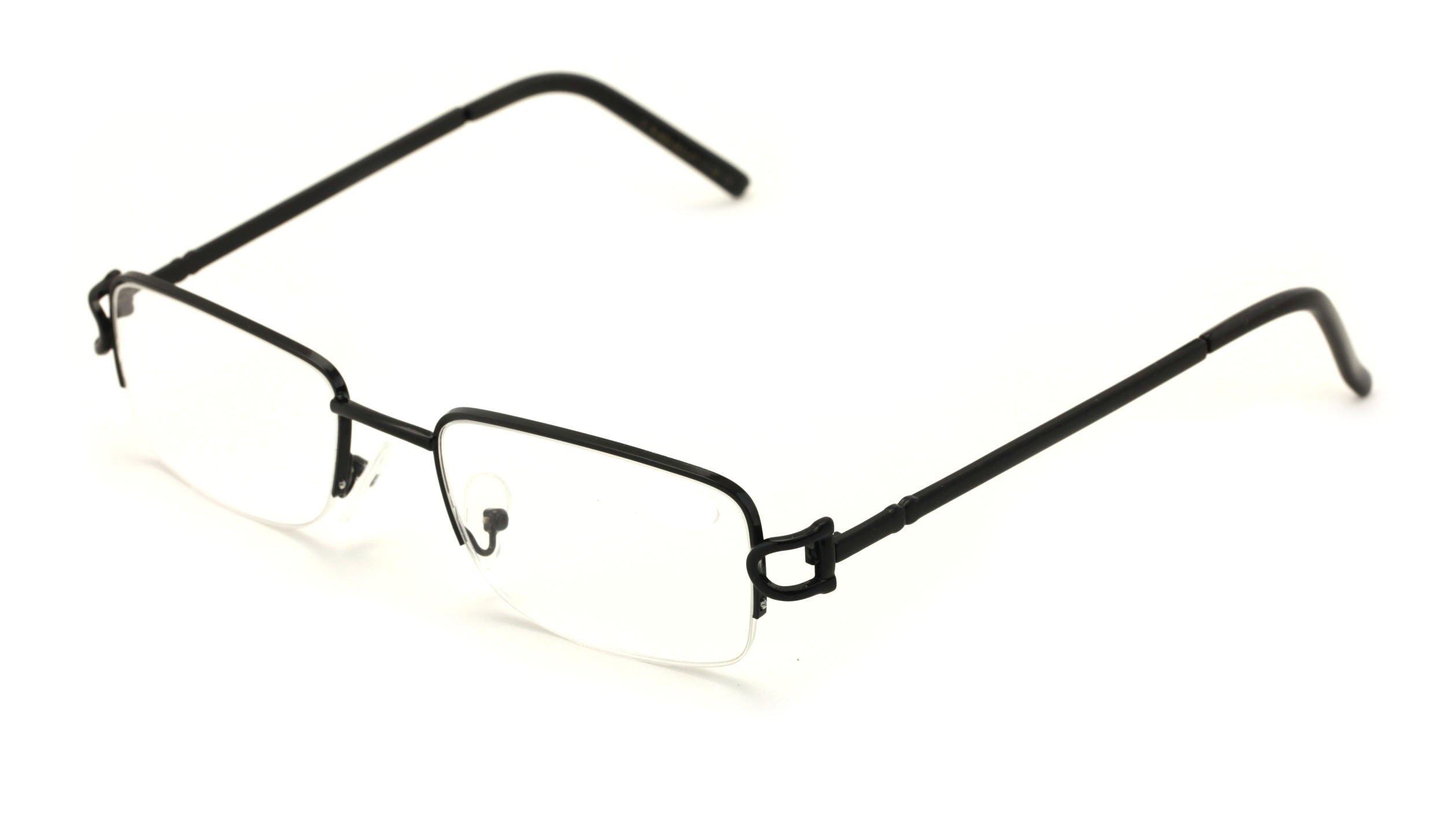 V.W.E. Rectangular Frame Clear Lens Designer Sunglasses RX Optical Eye Glasses (Black, Clear)