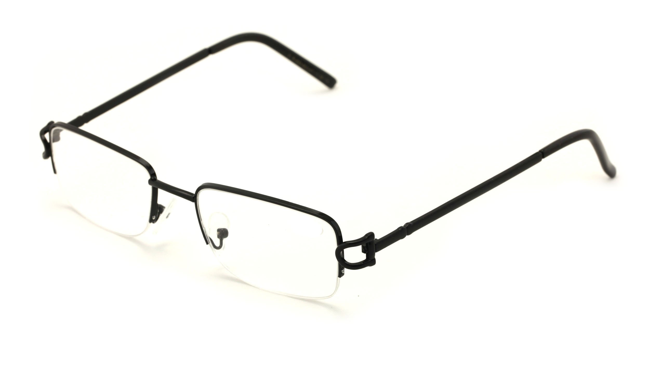 V.W.E. Rectangular Frame Clear Lens Designer Sunglasses RX Optical Eye Glasses (Black, Clear) by Vision World Eyewear