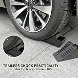 ROBLOCK Solid Rubber Wheel Chocks Heavy Duty