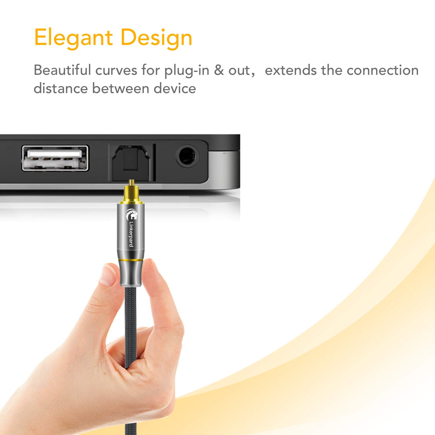 2 Meter//6.6 feet Linkerpard SPDIF Digital Optical Cable Toslink Audio Male to Male Compatible with Amplifier TV Soundbar Xbox and Home Theater System