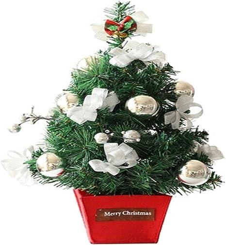 Mini árbol de decoración de Escritorio Árbol de Navidad Mesa Mini árbol de Navidad Artificial decoración para el hogar de pie Decoraciones de árbol de Navidad: Amazon.es: Deportes y aire libre