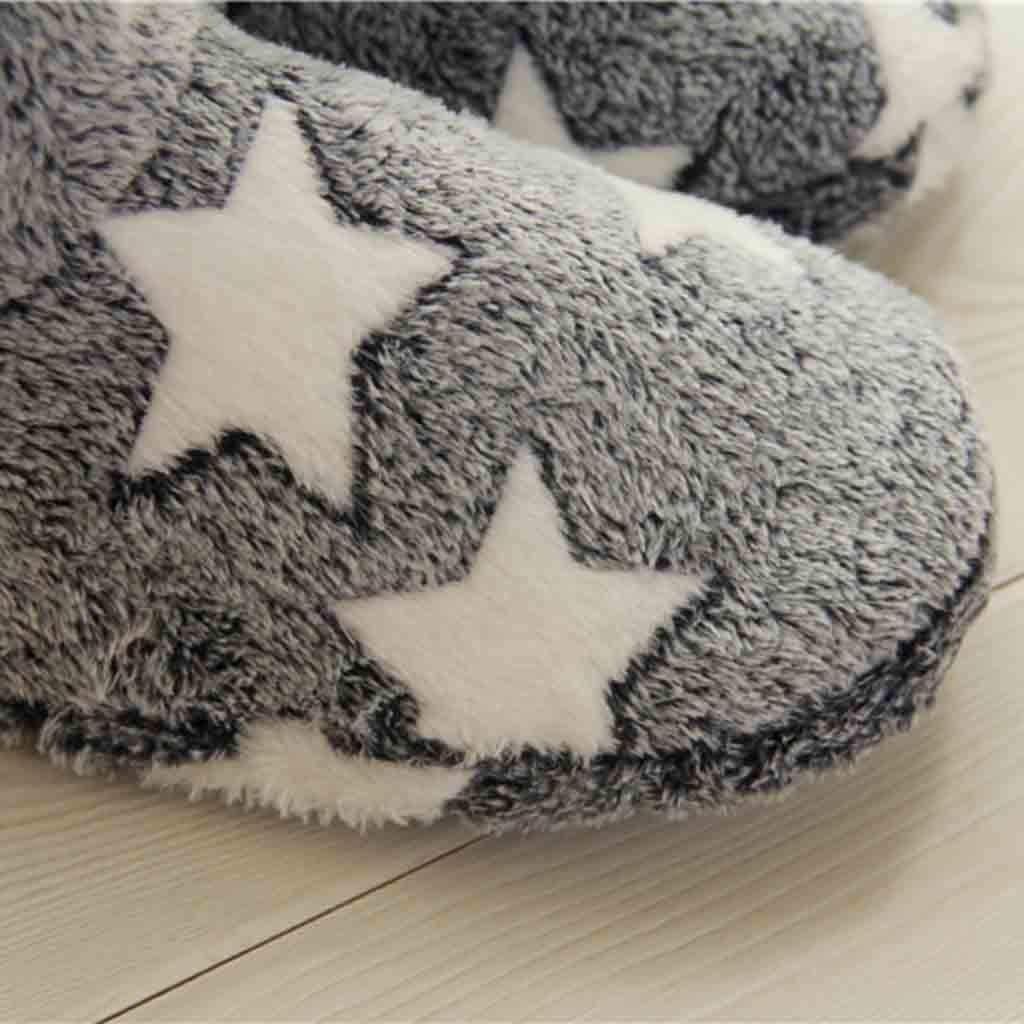 Pumsun Women Winter Soft Warm Slippers Home Mute Cute Soft Plush Ball Interior Boots