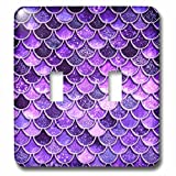 3dRose lsp_275449_2 Image of Sparkling Ultra Violet Shiny Luxury Mermaid Scales Glitter Toggle Switch, Mixed