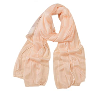 0b4f088c86af Westeng Femme Longue Écharpe en Mousseline de Soie Foulard Longue Simple  Couleur Pure Protection Solaire Châle