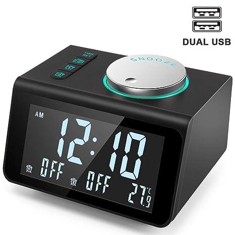 YsinoBear Radio reloj despertador pequeño con radio FM ...