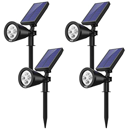 Amazon.com: AMIR 2 en 1 focos solares, luz solar de jardín ...