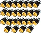 Black Duck Brand Male Extension Cord Replacement Electrical Plug End (25 Male Ends)