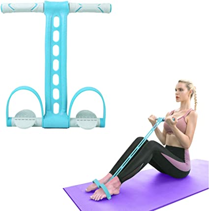 Amazon Com Aikotoo Pedal Resistance Band Elastic Pull Rope Fitness Sit Up Exercise At Home Gym Yoga Workout Equipment Multifunction Pedal Arm Leg Trainer Slimming Bodybuilding Abdominal Training Blue Sports Outdoors