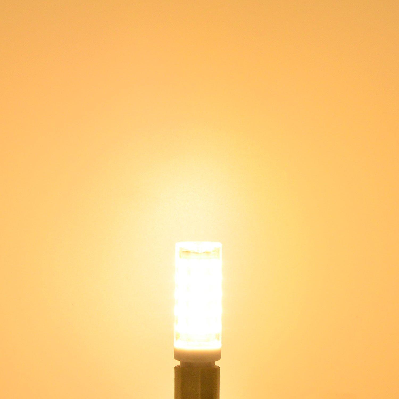 /240/V Bianco caldo 3000/K con materiale pc MENGS/® 6/pezzi G9/10/W lampadina a led 64/X 2835/SMD AC 220/