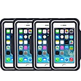 [4 Pack]Armband for iPhone 6 Plus iPhone 6S Plus iPhone 6/6S Galaxy S5/S6 Plus S7 CaseHigh Shop Sports Running & Exercise Gym Sportband (5.5-Inch) Defender with Key Holder (Black)