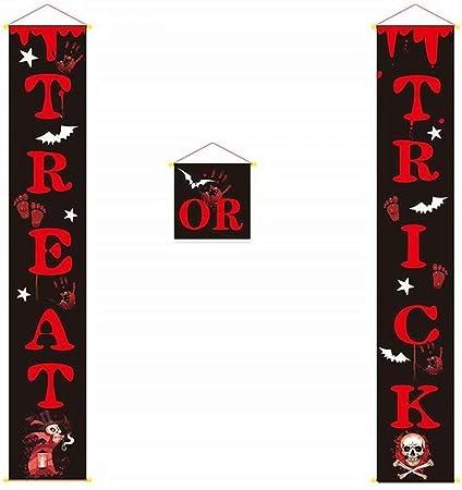 Amazon.com: Heyuni.Cartel de Halloween para decoración al ...