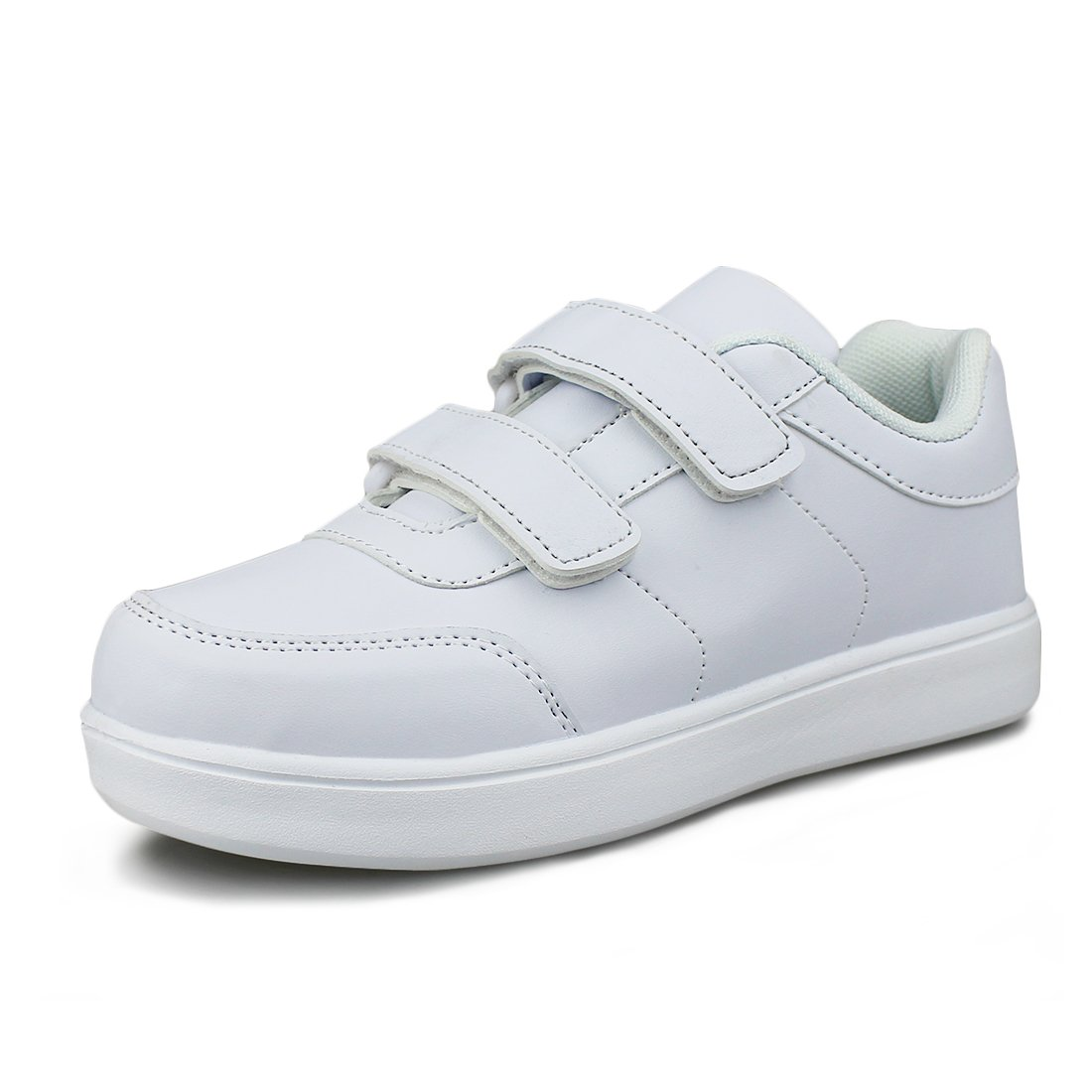 Hawkwell Kids School Uniform Sport Shoes(Toddler/Little Kid),White PU,10 M US