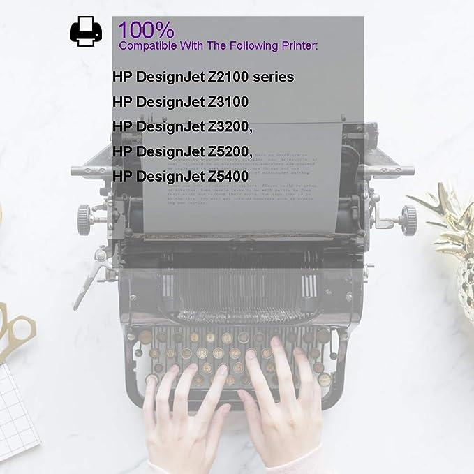 Ouguan - Cabezales de impresión HP para Designjet Z2100 Z5200 ...