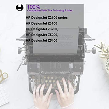 Ouguan - Cabezales de impresión HP para Designjet Z2100 Z5200 Z3200 Z3100 Series Negro Foto/Gris Claro (C9407A): Amazon.es: Oficina y papelería