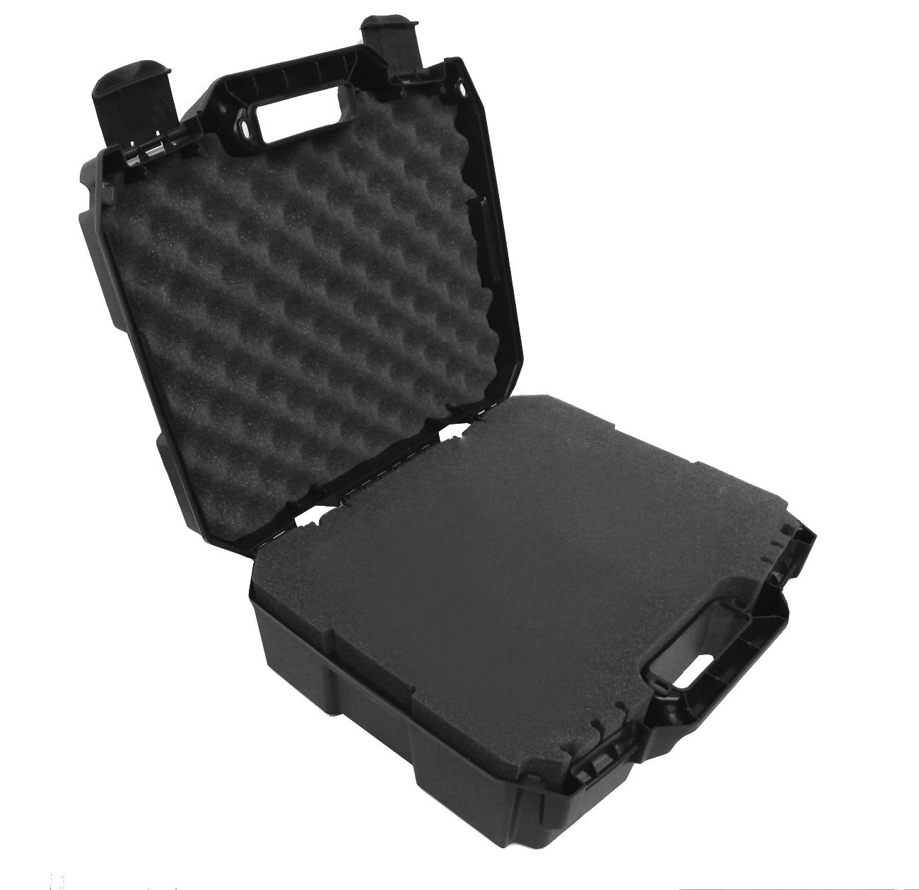 CASEMATIX Rugged XL Drone Case With Customizable Foam Fits DJI Mavic Air Fly More Combo and Mavic Air Accessories Such as Remote Control , Extra Batteries , Charger , Propellers and More
