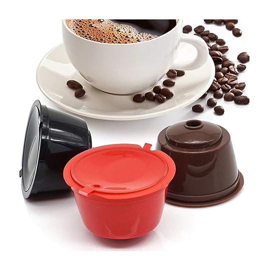 Rusaly 3PCs Cápsulas Filtros de Café para Cafetera Dolce Gusto ...