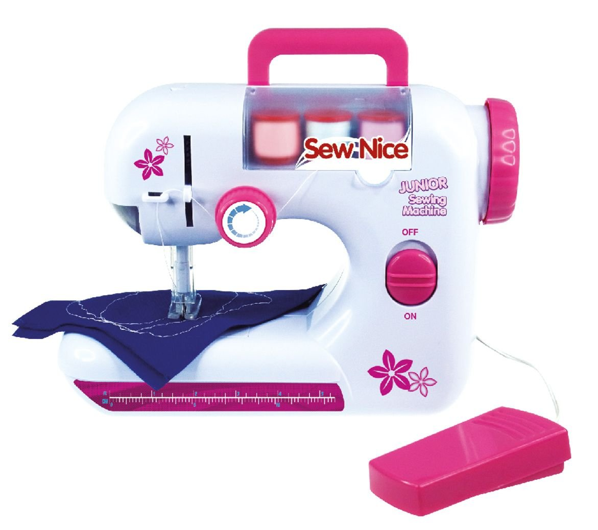 Lena 42521Children's Battery Operated Sewing Machine with Sewing Thread and Tape Measure SIMM Spielwaren