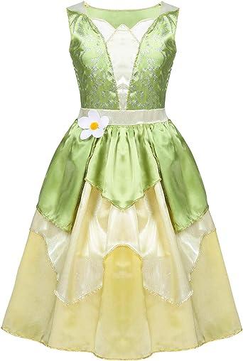 YiZYiF Vestido Princesa Disfraz Princesa Medieval Niñas Cosplay ...